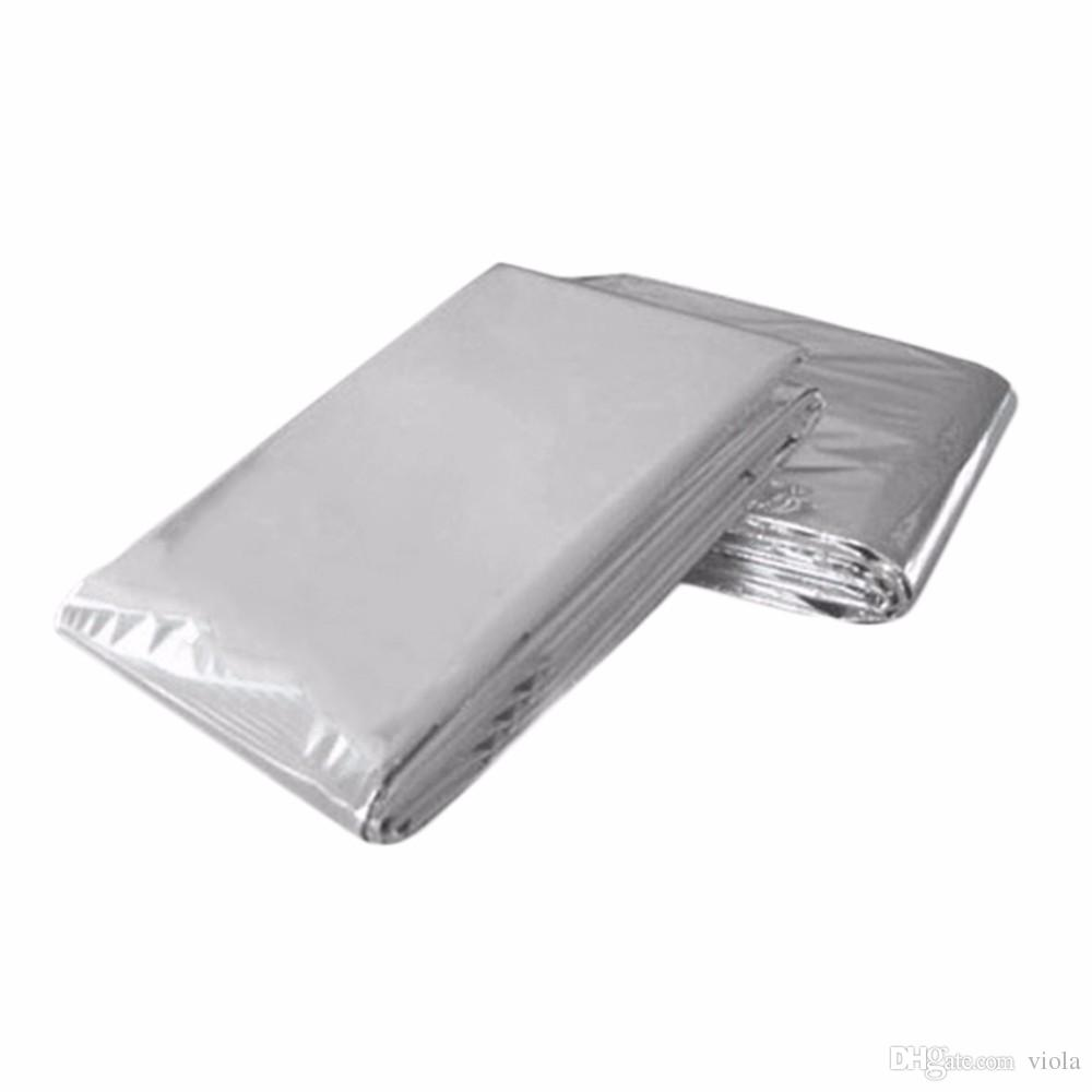 Foil Insulation Blanket 210 130cm Emergency Blanket Outdoor Sports Insulation Blanket Waterproof Emergency Foil Survival Blanket