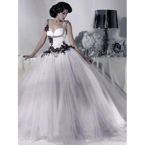 Medium Crop Of Black And White Wedding Dresses
