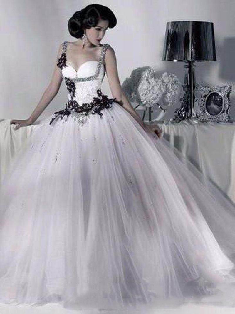 Large Of Black And White Wedding Dresses