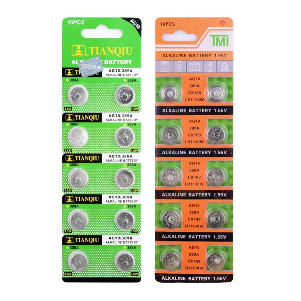 Knoopcel Lr1130 Ag10 Cell Coin Battery Lr1130 V10ga Watch Button Coin 189 389 390 Lr54 Batteries Hot Selling 50 Off