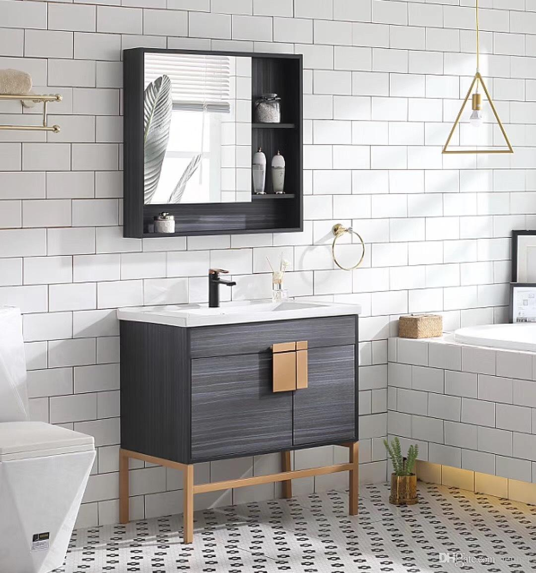 2021 Nordic Style Bathroom Cabinets Light Luxury Style Bathroom Vanity Floor Washbasin Cabinet Combination Bathroom Furniture Manufacturer From Jennet 261 31 Dhgate Com