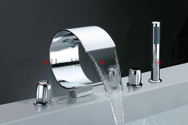 2018 Bathroom Waterfall Sink Faucet Luxury Bathtub And