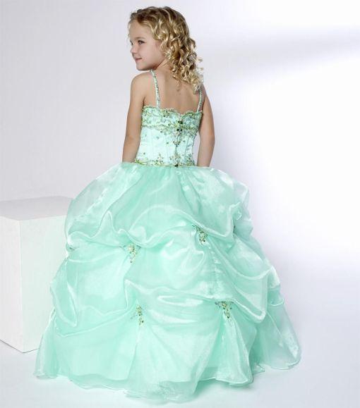 green wedding dress for girls age 10