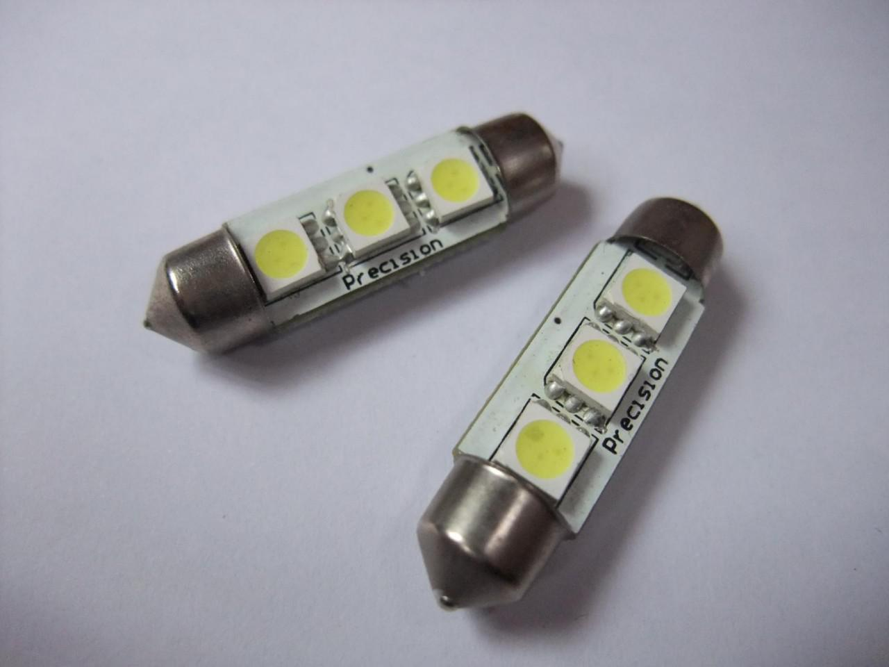 Auto Interieur Lamp Canbus 39mm 3 Smd 5050 White 12v Led Car Auto Light Bulbs
