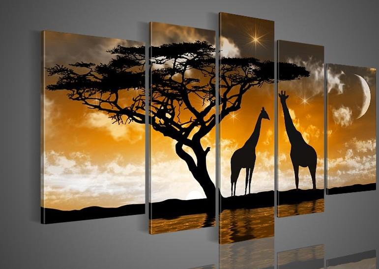 2018 Hand Painted Oil Wall Art Goldencloud Tree Landscape Oil