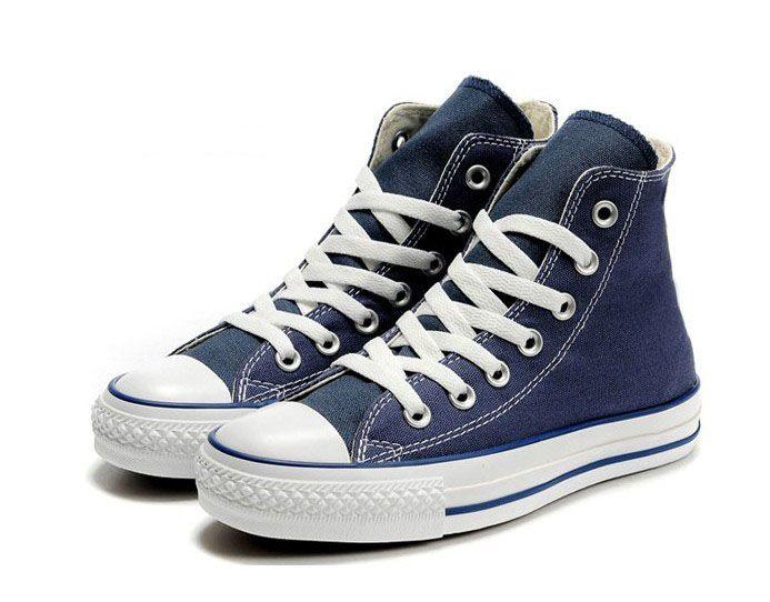 Blue Tall Chuck Canvas Shoes Sneaker Men39s Women39s Canvas