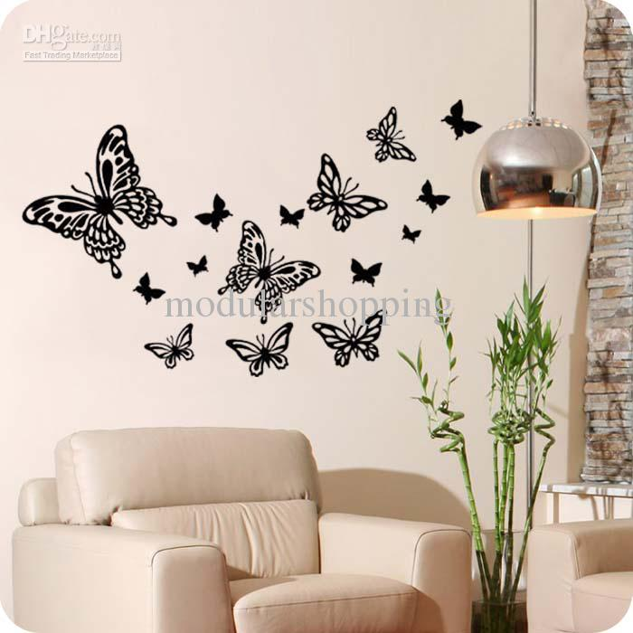natural wall decor butterfly buy cheap natural wall decor dandelion blossom wall decals stickers appliques home decor