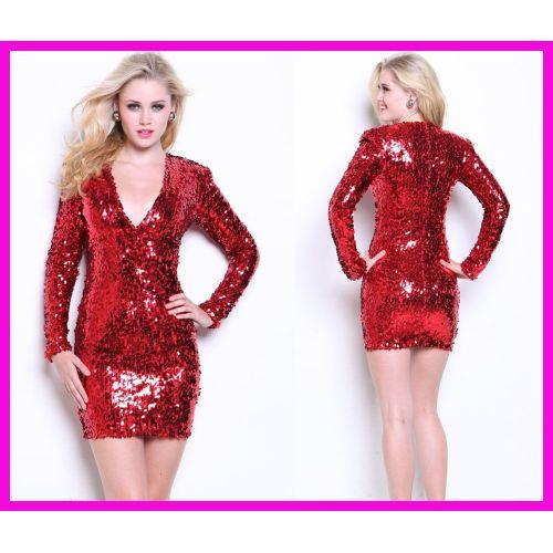 Medium Crop Of Red Sequin Dress