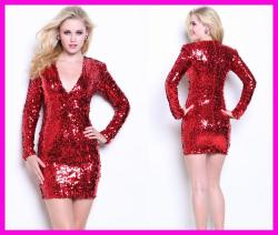 Small Of Red Sequin Dress