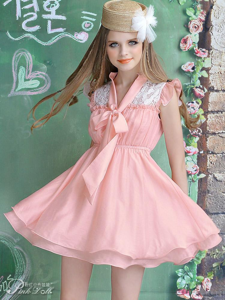 Casual pink dresses for women christmas