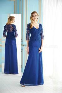 Cobalt Lace V-Neck Mother of the Bride Dress 2013 Chiffon ...