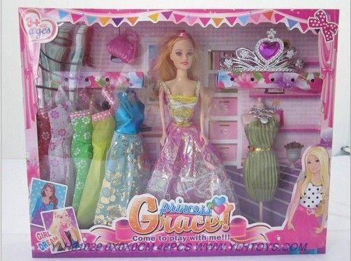 Solid Body Barbie Dolls Girl Doll Toys Set Ylh31029