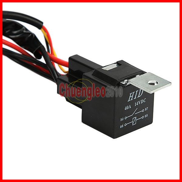 Universal Harness Car Driving Holder Relay On/Off Switch Loom Kit