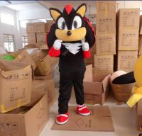 New Shadow Sonic The Hedgehog Mascot Black Sonic Costume