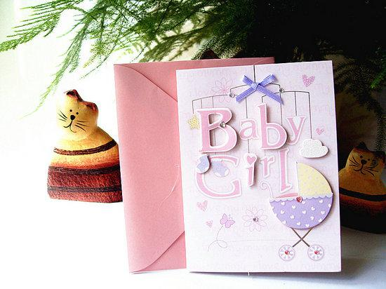 New Born Baby Greeting Card 12 Patterns Mixed Lovely 3D Baby Card