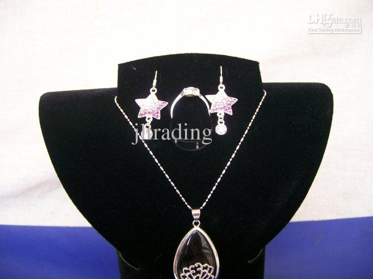 Wholesale Jewelry Bust Foldable Plastic Earring Necklace