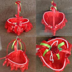 Bohemian flower girl baskets red and white flower girl baskets gallery flower decoration ideas mightylinksfo