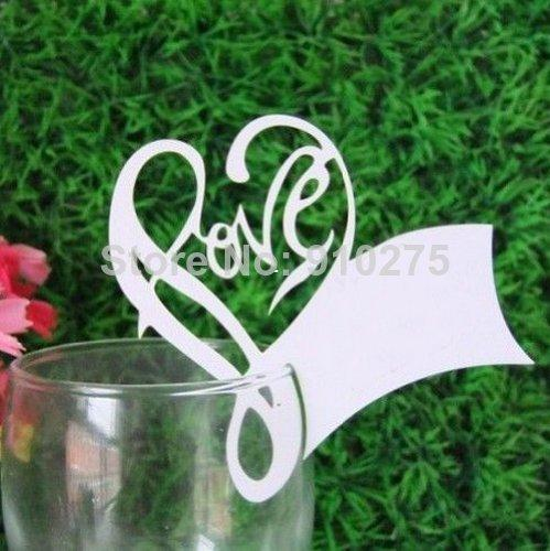 Online Cheap Romantic Love Heart Name Place Cards Laser Cut Table - buy place cards