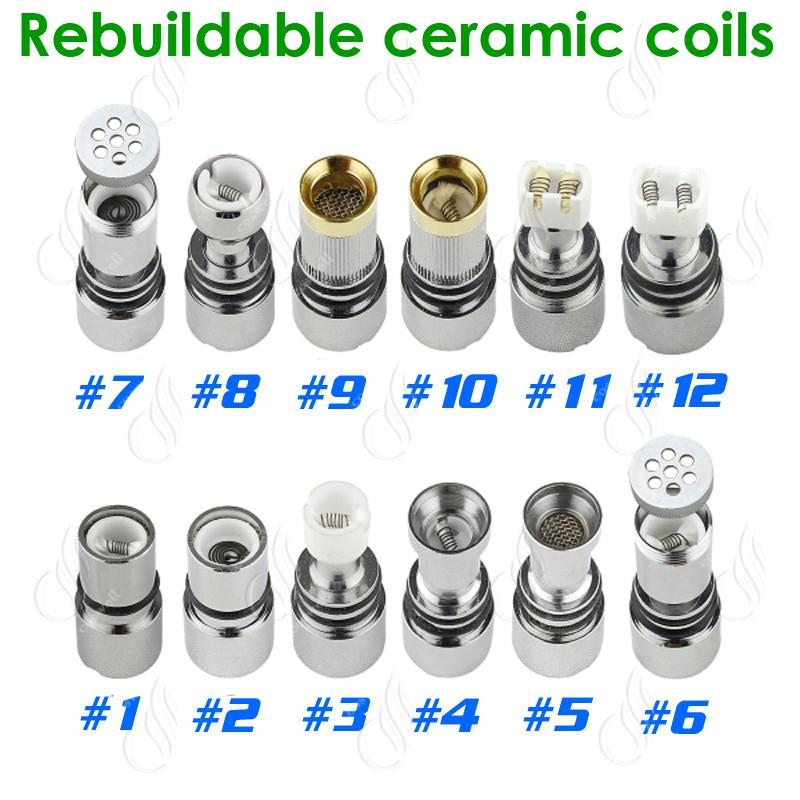 Glass Atomizer 12 Types Dual Ceramic Rebuildable Atomizer Coils for