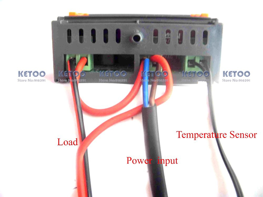 2019 Digital Temperature Controller Thermostat 10A Output Three