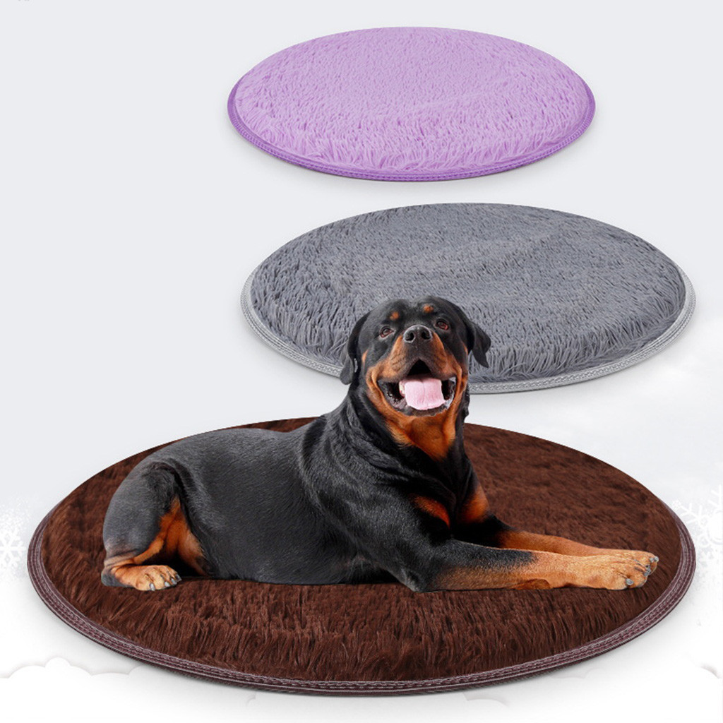 Dog Beds Pet Pet Dog Puppy Cat Kennel Pad Bed Cushion Coral Fleece Mat Warm Soft Blanket Dog Bed Round Dog Beds For Large Dogs Washable