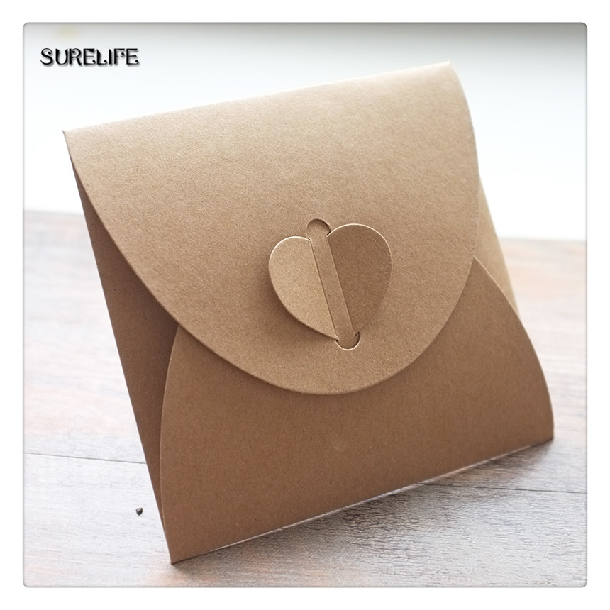 13*13cm Kraft Paper CD Sleeve Discs DVD Packaging Bag Box Retail CD