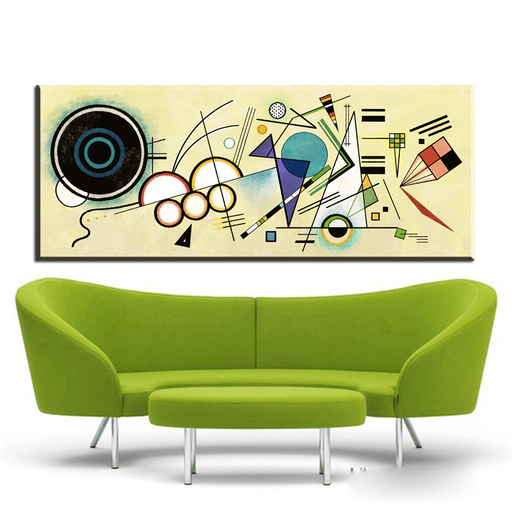 Wall Paintings For Sale Hot Sale Wassily Kandinsky Composition No8 1923 Wall Painting Picture Leaf Home Decorative Art Picture Oil Painting On Canvas