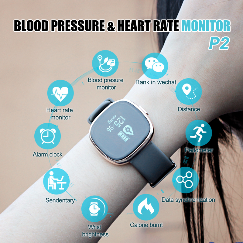 Heart Rate Monitor Smart Watches Android Ip67 Waterproof Blood
