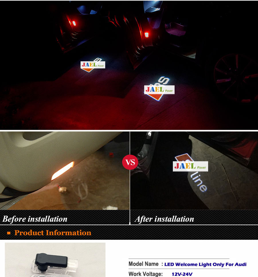 Led Verlichting Audi Logo Verlichting Onder Chassis Audi Logo Led Puddle Projector Ghost