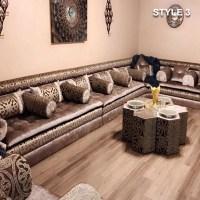 Style 3 fabric brown color Arabic majlis sofa floor ...