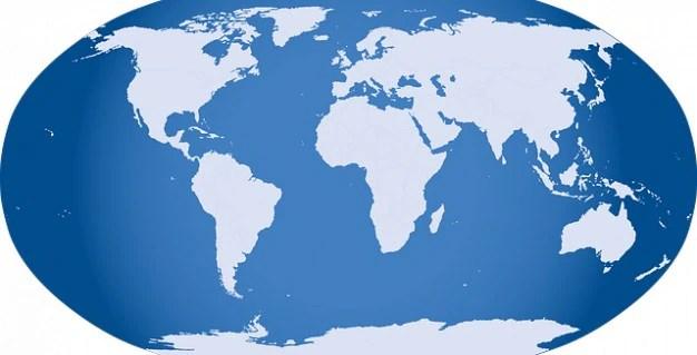Globo semplice icona cartina muta mondo Scaricare foto gratis - cartina mondo