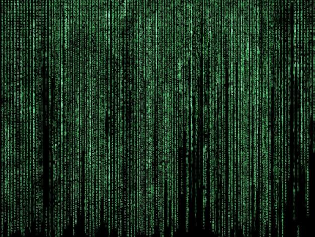 Matrix Falling Code Wallpaper Sfondo Futuristico Con Disegno Di Codice Di Stile Matrix