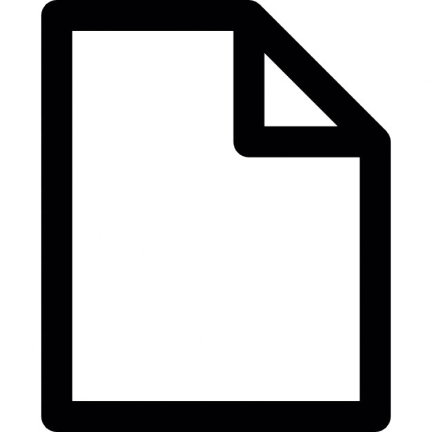 Blank document Icons Free Download