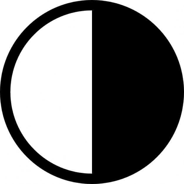 Contrast circle symbol Icons Free Download