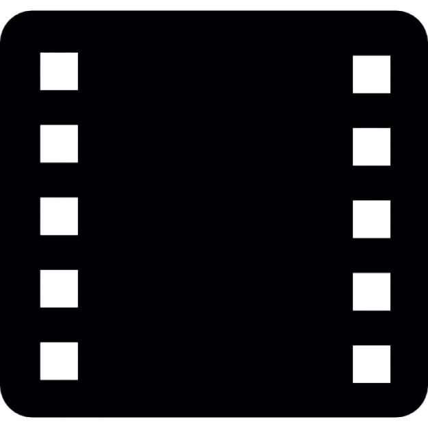 Film strip rounded square Icons Free Download