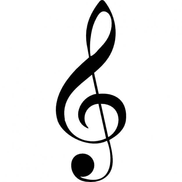 G clef musical note Icons Free Download - clef music