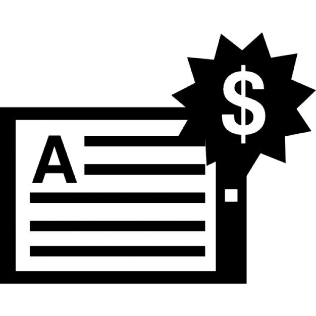 Handout with dollars price tag Icons Free Download