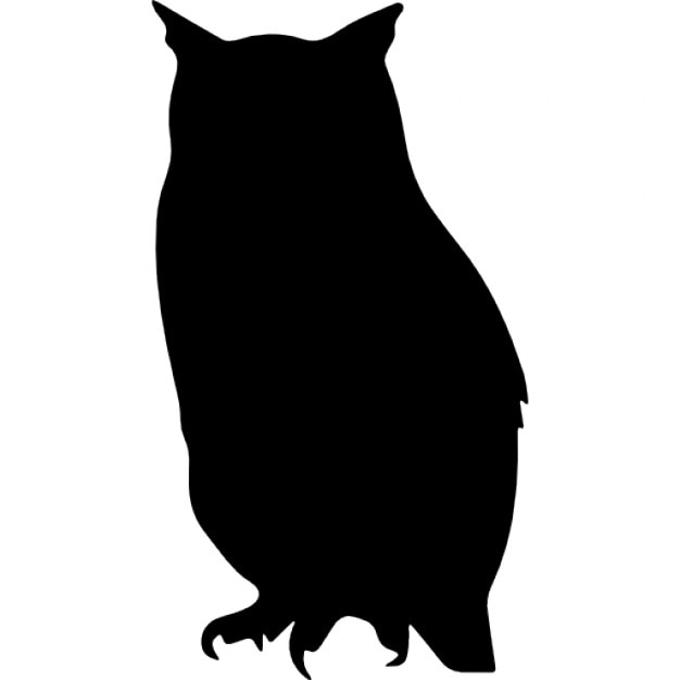 Owl bird shape Icons Free Download