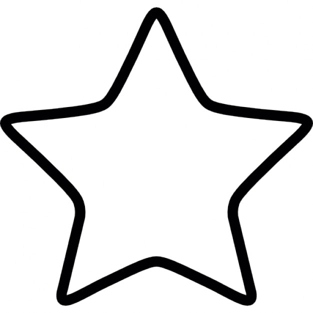Star white outlined shape Icons Free Download