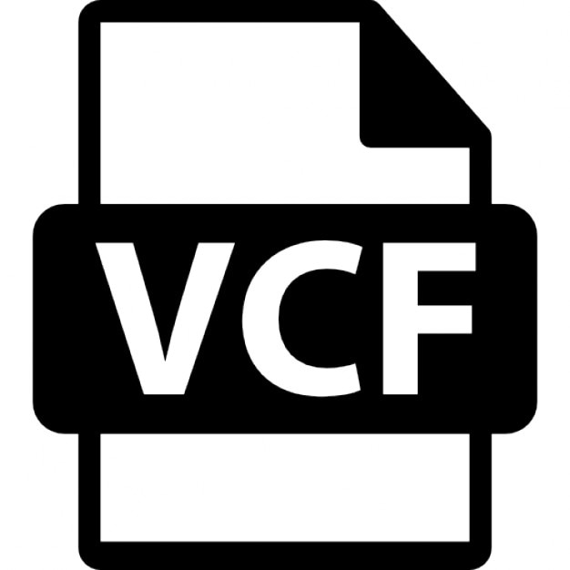 VCF file symbol Icons Free Download