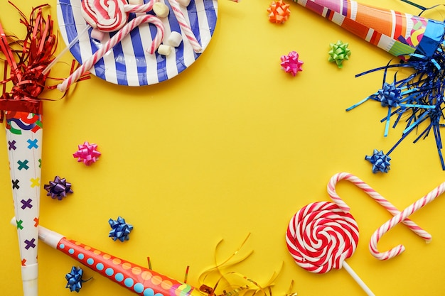 Birthday background with great decorative items Photo Free Download - birthday backround