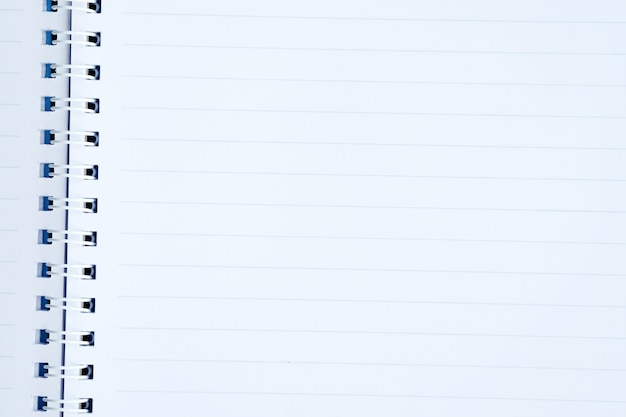 Blank line paper notebook background, education and business
