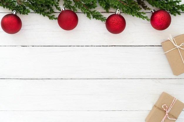 Christmas theme Background Christmas present gifts box and fir - christmas theme background