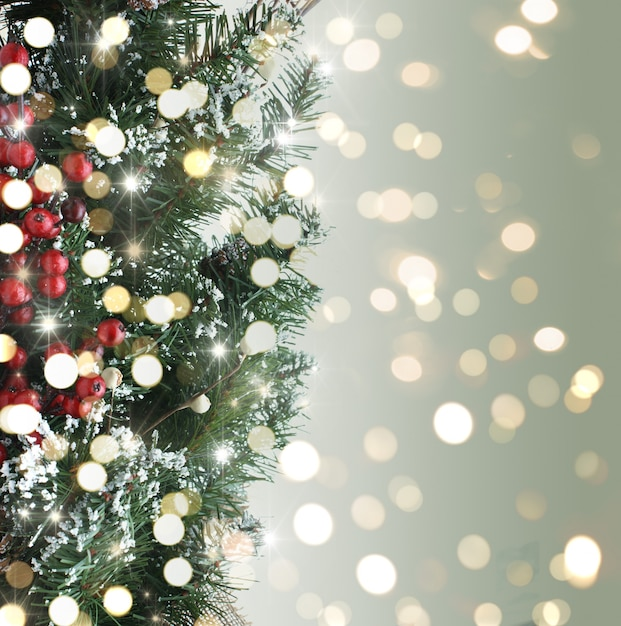 Christmas tree background with bokeh lights \u2013 Over millions vectors