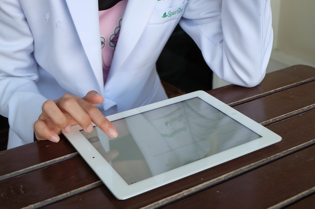 Doctor holding tablet , E-Health concept , business concept Photo