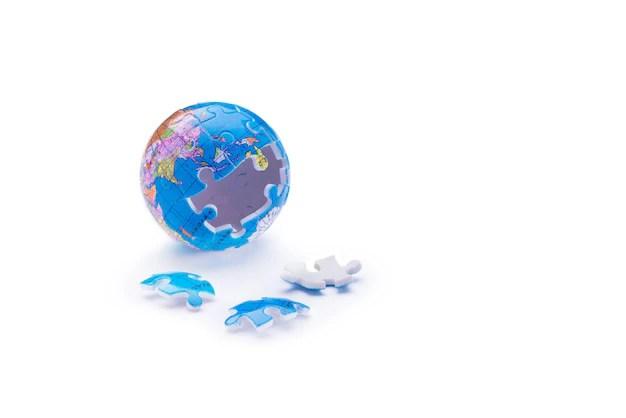 Globe jigsaw puzzle Photo Premium Download