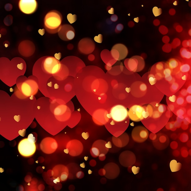Good Night 3d Wallpapers Free Download Love Background With Bokeh Effect Photo Free Download