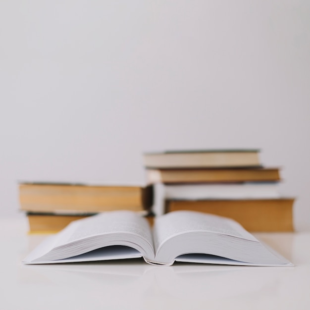Opened book on white background Photo Free Download - opened book