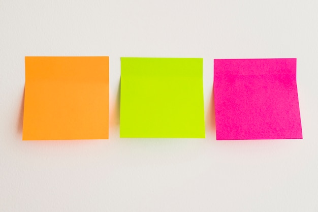 Sticky notes in three colors Photo Free Download - stickey notes