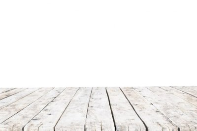 Table made with old white planks without background Photo | Free Download